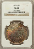Morgan Dollars: , 1883-O $1 MS64 NGC. NGC Census: (43418/10688). PCGS Population(35723/8019). Mintage: 8,725,000. Numismedia Wsl. Price for ...