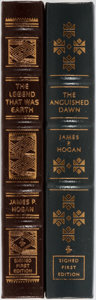 Books:Science Fiction & Fantasy, James P. Hogan. Group of Two Signed and Numbered First Edition Books Published by Easton Press. Publisher's leather. Fine.... (Total: 2 Items)