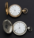 Timepieces:Pocket (pre 1900) , Fredonia Private Label & Elgin National Early Key Wind No.24776. ... (Total: 2 Items)