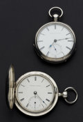 Timepieces:Pocket (pre 1900) , Tremont (Melrose) Key Wind & Elgin National G.M. Wheeler. ...(Total: 2 Items)