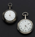 Timepieces:Pocket (pre 1900) , Two Silver Verge Fusee's. ... (Total: 2 Items)