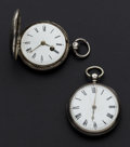 Timepieces:Pocket (pre 1900) , Two Swiss Verge Fusee Silver Watches. ... (Total: 2 Items)
