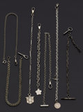 Timepieces:Watch Chains & Fobs, A Lot Of Seven Miscellaneous Chains. ... (Total: 7 Items)