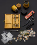 Timepieces:Other , A Lot Of Ten Miscellaneous Watch Maker's Tools & Glass Crystals. ... (Total: 10 Items)