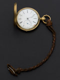 Timepieces:Pocket (post 1900), Swiss With A Fancy Movement Plate Key Wind Pocket Watch. ...