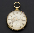 Timepieces:Pocket (pre 1900) , Swiss Robert Roskell 18k Gold Key Wind Pocket Watch. ...
