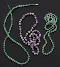 Aventurine, Amethyst Necklaces