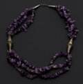 Estate Jewelry:Necklaces, Amethyst, White Metal Necklace. ...