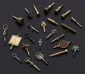 Timepieces:Other , Lot of 24 Antique Watch Keys. ... (Total: 24 Items)