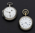 Timepieces:Pocket (pre 1900) , French Verge Fusee & Cheshire 16 Sizes Pocket Watches. ...(Total: 2 Items)