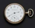Timepieces:Pocket (post 1900), Manistee Watch Co. 17 Jewel Open Face Pocket Watch. ...