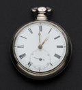 Timepieces:Pocket (pre 1900) , English Rack Lever Fusee Pair Case Pocket Watch. ...