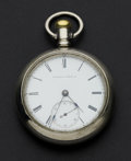 Timepieces:Pocket (pre 1900) , Elgin 18 Size Open Face Key Wind Pocket Watch . ...