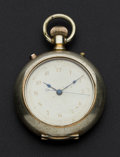 Timepieces:Pocket (pre 1900) , Rare Manhattan Watch Co. Chronograph. ...