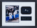 Baseball Collectibles:Others, Derek Jeter Game Worn Wristband Display....