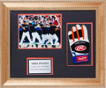 Baseball Collectibles:Others, Circa 2000 Mike Piazza Game Worn Batting Glove Display....