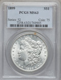 Morgan Dollars: , 1899 $1 MS63 PCGS. PCGS Population (3573/5024). NGC Census:(2592/3503). Mintage: 330,846. Numismedia Wsl. Price for proble...