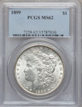 Morgan Dollars: , 1899 $1 MS62 PCGS. PCGS Population (1327/8597). NGC Census:(1099/6095). Mintage: 330,846. Numismedia Wsl. Price for proble...