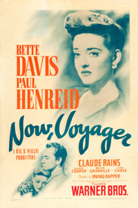 "Now, Voyager (Warner Brothers, 1942). One Sheet (27"" X 41"")"