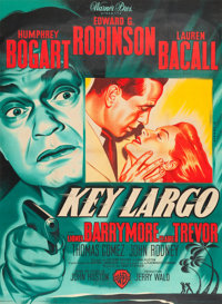 "Key Largo (Warner Brothers, 1948). French Grande (45"" X 61"") Pierre Pigeot Art"