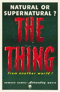 "The Thing from Another World (RKO, 1951). One Sheet (27"" X 41"")"