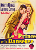 "Movie Posters:Romance, The Prince and the Showgirl (Warner Brothers, 1959). French Grande(45"" X 63"") Jean Mascii Art.. ..."