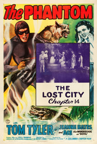 "The Phantom (Columbia, 1943). One Sheet (27"" X 41"") Chapter 14 -- ""The Lost City."""