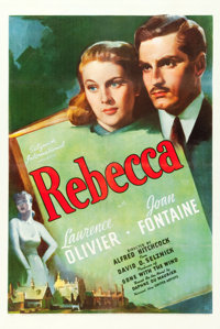 "Rebecca (United Artists, 1940). One Sheet (27"" X 41"")"
