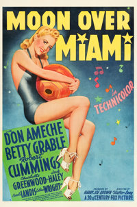"Moon Over Miami (20th Century Fox, 1941). One Sheet (27"" X 41"") Style B"