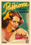 "Movie Posters:Drama, Golden Boy (Columbia, 1939). Pre-War Italian Foglio (27.25"" X 40"")Sergio Gargiulo Art.. ..."