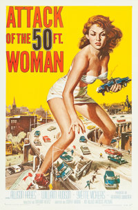 """Attack of the 50 Foot Woman (Allied Artists, 1958). One Sheet (27"""" X 41"""")"""