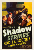 "Movie Posters:Mystery, The Shadow Strikes (Grand National, 1937). One Sheet (27"" X 40"")....."