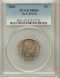 Liberty Nickels: , 1883 5C No Cents MS63 PCGS. PCGS Population (1547/4925). NGCCensus: (1046/4628). Mintage: 5,479,519. Numismedia Wsl. Price...