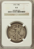 Walking Liberty Half Dollars: , 1916 50C Good 6 NGC. NGC Census: (33/1255). PCGS Population(38/1638). Mintage: 608,000. Numismedia Wsl. Price for problem ...