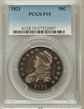 Bust Half Dollars: , 1821 50C Fine 15 PCGS. PCGS Population (15/673). NGC Census:(11/571). Mintage: 1,305,797. Numismedia Wsl. Price for proble...