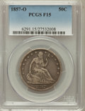 Seated Half Dollars: , 1857-O 50C Fine 15 PCGS. PCGS Population (1/98). NGC Census:(0/55). Mintage: 818,000. Numismedia Wsl. Price for problem fr...