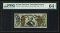 Fractional Currency:Third Issue, Fr. 1340 50¢ Third Issue Spinner Type II PMG Choice Uncirculated 64 Net.. ...