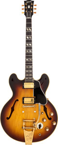 Musical Instruments:Electric Guitars, 1961 Gibson ES-345 Sunburst Semi-Hollow Body Electric Guitar,Serial # 37833. ...