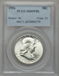 Franklin Half Dollars: , 1956 50C MS65 Full Bell Lines PCGS. PCGS Population (1266/678). NGCCensus: (477/161). Numismedia Wsl. Price for problem f...
