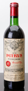 Red Bordeaux, Chateau Petrus 1970 . Pomerol. ts, lbsl, lcc. Bottle (1). ... (Total: 1 Btl. )