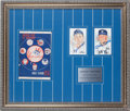 "Autographs:Others, Joe DiMaggio & Mickey Mantle Signed Framed ""1951 Yankees""Display...."