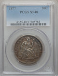 Seated Half Dollars: , 1877 50C XF40 PCGS. PCGS Population (17/284). NGC Census: (8/265).Mintage: 8,304,510. Numismedia Wsl. Price for problem fr...