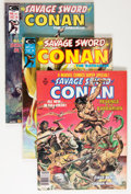 Magazines:Adventure, Savage Sword of Conan Group (Marvel, 1974-78) Condition: Average FN/VF.... (Total: 20 Comic Books)