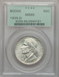 Commemorative Silver: , 1935-D 50C Boone MS65 PCGS. PCGS Population (327/98). NGC Census:(236/93). Mintage: 5,005. Numismedia Wsl. Price for probl...