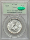 Commemorative Silver: , 1946 50C Iowa MS65 PCGS. CAC. PCGS Population (3130/3465). NGCCensus: (1791/3065). Mintage: 100,057. Numismedia Wsl. Price...