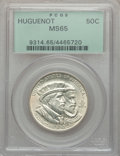 Commemorative Silver: , 1924 50C Huguenot MS65 PCGS. PCGS Population (948/390). NGC Census:(1028/337). Mintage: 142,080. Numismedia Wsl. Price for...
