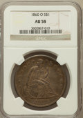Seated Dollars, 1860-O $1 AU58 NGC....