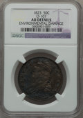 Bust Half Dollars, 1823 50C O-107, R.1 -- Environmental Damage -- NGC Details. AU. NGCCensus: (44/475). PCGS Population (90/454). Mintage: 1,...