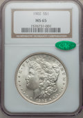 Morgan Dollars: , 1902 $1 MS65 NGC. CAC. NGC Census: (884/179). PCGS Population(1459/486). Mintage: 7,994,777. Numismedia Wsl. Price for pro...