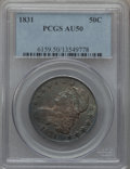 Bust Half Dollars: , 1831 50C AU50 PCGS. PCGS Population (166/1063). NGC Census:(88/1135). Mintage: 5,873,660. Numismedia Wsl. Price for proble...